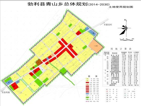 图为青山乡规划图
